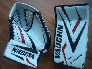 Vaughn Vision 9200 Junior Goalie Blocker Catch Gloves Ice Hockey Goal