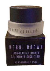 BOBBI BROWN GEL LINER EYE LINER NEW ** BLACK INK ** MINI BRUSH BONUS