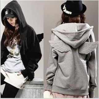 Fashion Women Korean Wings Casual Hoodie Jacket Coat tops Outerwear