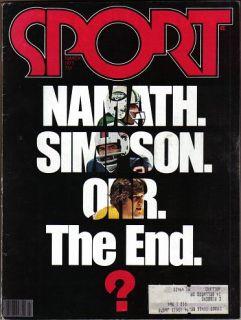 1977 Sport Magazine Joe Namath Bobby Orr O.J. Simpson