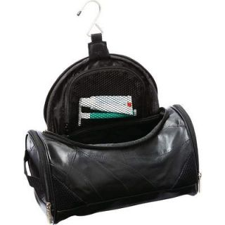 Black Lambskin Leather Toiletry Bag, Men or Womens Travel Cosmetic
