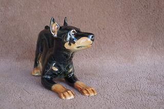 Vintage GOEBEL West Germany DOBERMAN PINSCHER Puppy Dog figurine