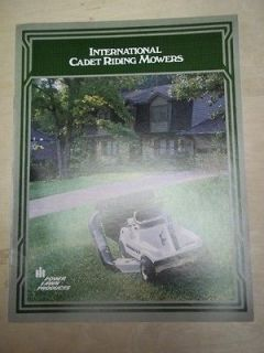 Vtg IH International Harvester Brochure~Cadet Riding Mowers 55/85