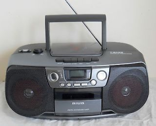 AIWA CD PLAYER, CASSEE DECK, DIGIAL SYNHESIZED UNER BOOMBOX WIH