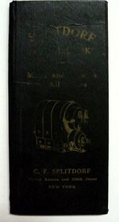 Splitdorf 1910 Magneto U.S. Routes Book Brochure