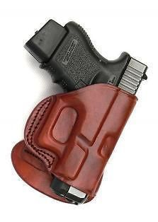 LEATHER PADDLE HOLSTER FOR SPRINGFIELD XD 40 & 9mm. BROWN RIGHT