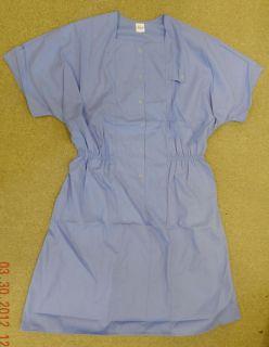 Premier Uniforms Medical Nurse Snap Front Scrub Dress Ceil Blue 4X New