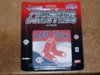 Boston Red Sox Premium Coasters MLB (10) Mug/Drink New