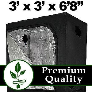 Hydroponic Grow Growing Tent Box Room Greenhouse System Mylar 3 x 3