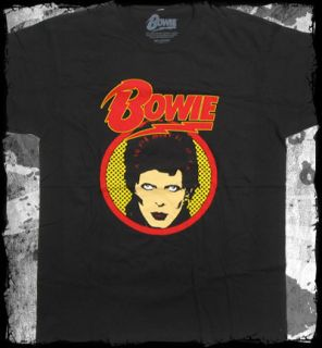 David Bowie   glam shot t shirt   Official   FAST SHIP