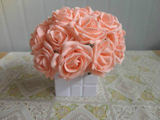 Artificial Flowers Pink Rose For Bridal Bouquet Wedding Wholesale lot