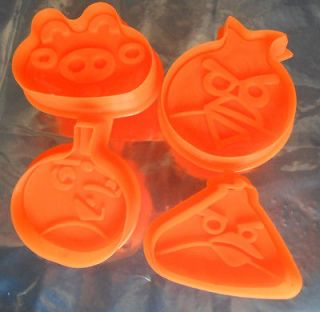 4PCS Angry Birds Shaped Cookie Cutter Fondant Cake Decoration tools