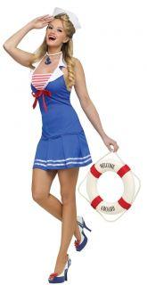 Sexy Navy Marine Girl Costume Top + Boyshorts Hat @8608
