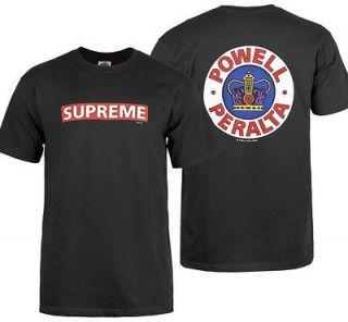 Powell Peralta T Shirt Bones Brigade Supreme Tee Shirt Black XXL