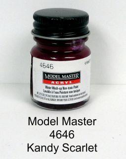 Model Master 4646 Kandy Scarlet GP00364 1/2 oz Acrylic Paint Bottle