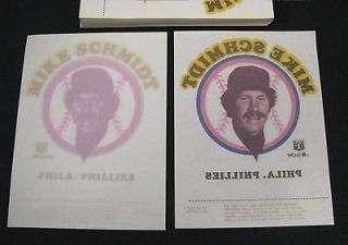 Mike Schmidt Phillies Lot of 100 1976 MR SOFTEE ICE CREAM Transfers