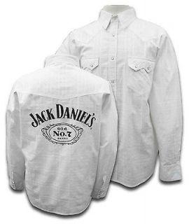 Ely Jack Daniels Old No 7 Brand Mens Western Snap Long Sleeve Shirt