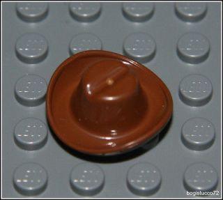 Lego City x1 Classic Brown Cowboy Hat ★ Western Bandit Boy Girl