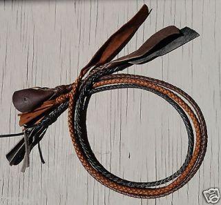 Bull Whip Kangaroo Leather Braided Fall Bullwhip Whips Popper