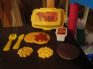 Fisher Price Fun with Food McDonalds Hotcakes Breakfast pancakes eggs