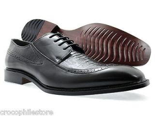 Mens Dress Shoes Bolano Oxford Lace Up Wing Tip Fashion Shoes