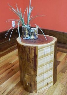 Edge Red Cedar Stump Stool/Reclaime d Timber/Plant Stand/Table 10207