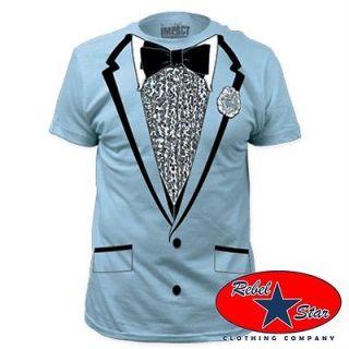 Retro Prom Tuxedo T Shirt 80s Cool Punk Rock Alternative Tattoo DJ Mod