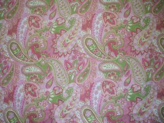 NEW Gypsy Paisley Pink Lime Green Yellow King Comforter Cotton