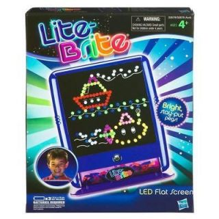 NEW ~ LITE BRITE LED FLAT SCREEN ~ INCLUDES STARTER ART SHEETS & PEGS