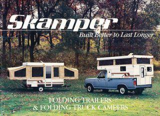 1983 1984 Skamper Camper Trailer 12 page Original Sales Brochure