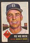 1953 TOPPS #76 PEE WEE REESE BROOKLYN DODGERS G VG CONDITION
