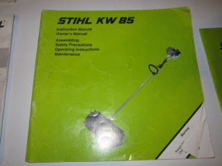 STIHL OWNERS MANUAL FOR KW85 POWER BROOM