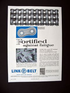 Link Belt FR Processed Roller Chains chain stress testing machine 1960
