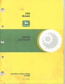 John Deere 246 Rotary Broom 430 Parts Catalog Used