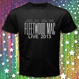 FLEETWOOD MAC BUCKINGHAM NICKS MICK MCVIE WORLD TOUR 2013 BLACK T