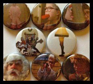 CHRISTMAS STORY 1 buttons badge Ralphie Red Rider BB Gun Leg Lamp