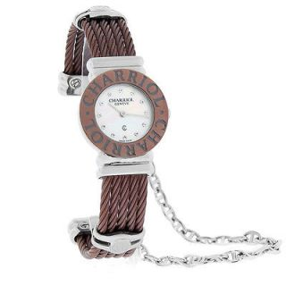 St. Tropez Ladies Diamond Bronze Finish Cuff Watch STO.95.1.57