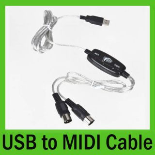 USB to MIDI Interface Cable Converter PC Music Recorder Keyboard