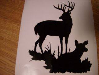 BUCK DOE deer hunter hunting decal sticker graphic