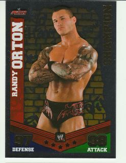 2010 WWE Slam Attax Mayhem Champion Foil Randy Orton
