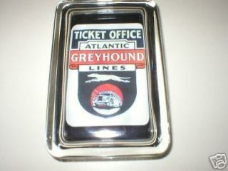 Greyhound Bus Ticket Office Sign Logo Neat Paperweight