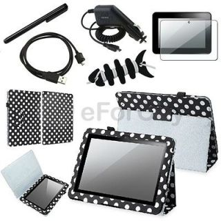 Leather Case Cover Protector Accessory Bundles For Kindle Fire HD 8.9