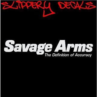 Savage Arms Definition Firearms Logo vinyl decal sticker