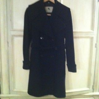 Burberry London Beautiful Double Breasted Wool & Cashmere Coat, US 6
