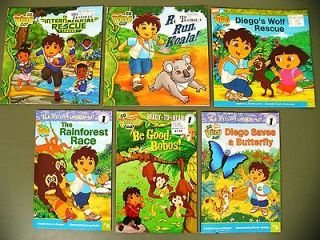 Lot 6 Go Diego kids story picture books/early readers Nick Jr Rescue