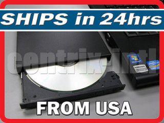 USB External DVD CD ROM Player Reader Combo CD RW Burner Drive UJDA775