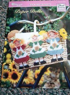 Plastic Canvas Pattern Paper Dolls   Doll Trio