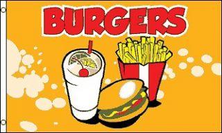 BURGERS FLAG Burger Van Food Stall Catering Trailer