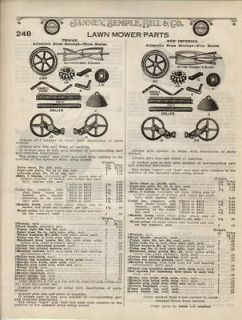 1922 Trojan Imperial PUSH LAWN REEL MOWER Antique Ad: :