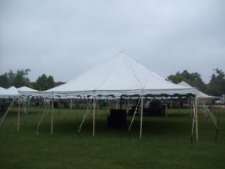USED 40 X 50 COMMERCIAL WHITE POLE TENT PARTY TENT WEDDING EVENT